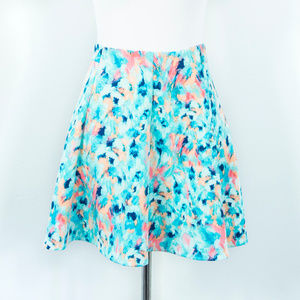 Decree Turquoise Skater Skirt